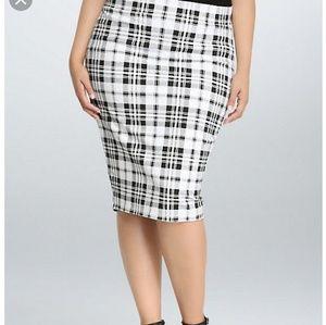 Torrid Plaid Pointe Midi Skirt